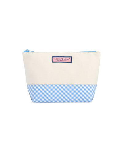 Women's Gingham Cosmetic Case