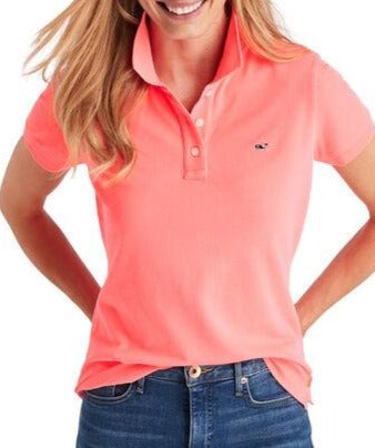 Women's Garment Dyed Pique Polo