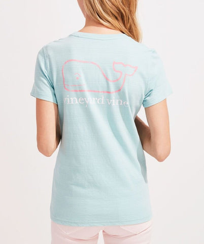 Women's Vintage Whale Pocket Tee