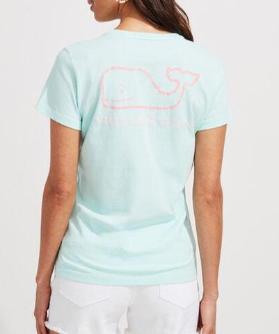 Women's Vintage Whale Short-Sleeve Pocket Tee