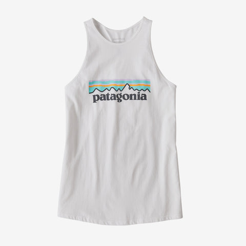 Women's Pastel P-6 Logo Organic Cotton High Neck Tank Top