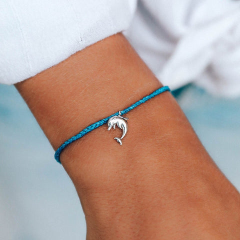Save The Dolphins Charm Bracelet