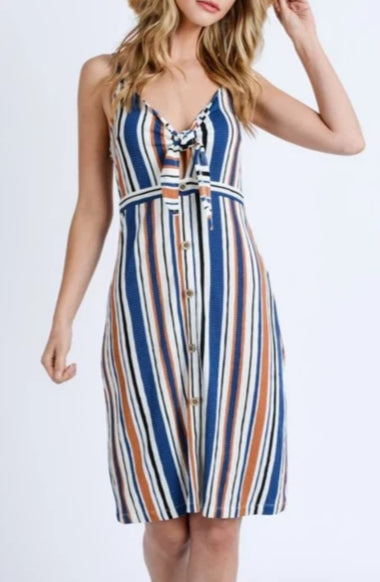 Striped Crinkle Dress