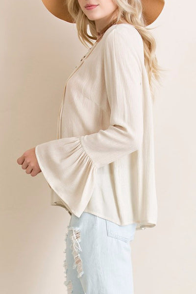Bell Sleeve Lace-up