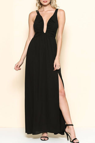 Low Neck Maxi Dress