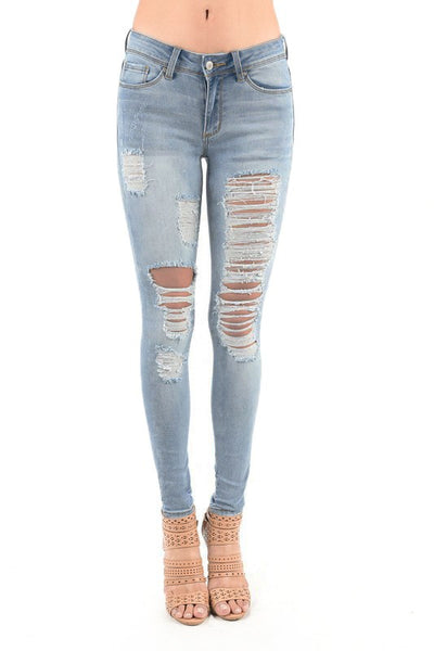 Destroyed Front Skinny Jean