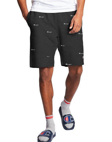 Men's All Over Logo Reverse Weave Cut-Off Shorts