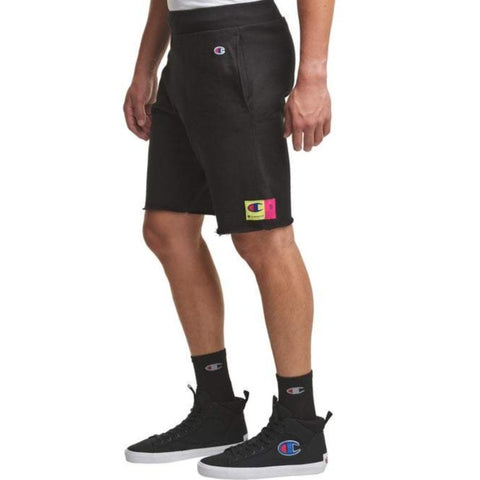 Men's Jock Tag Reverse Weave Cut-Off Shorts