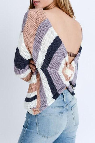 Knot Back Sweater