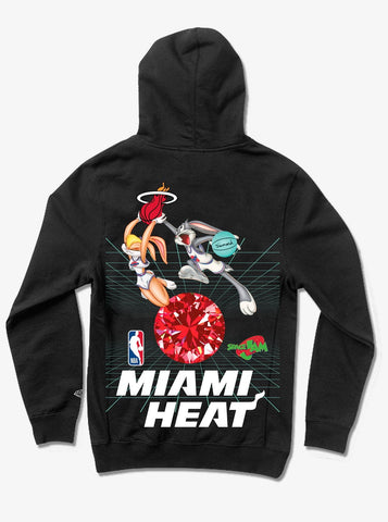 Diamond X Space Jams Miami Heat Hoodie