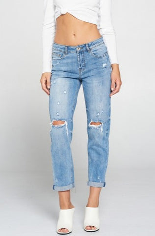 Slim Fit Boyfriend Jean