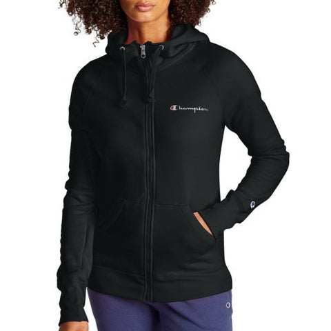 Women's Script Logo Powerblend Fleece Full Zip Hoodie
