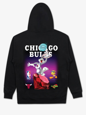 Diamond X Space Jams Chicago Bulls Hoodie