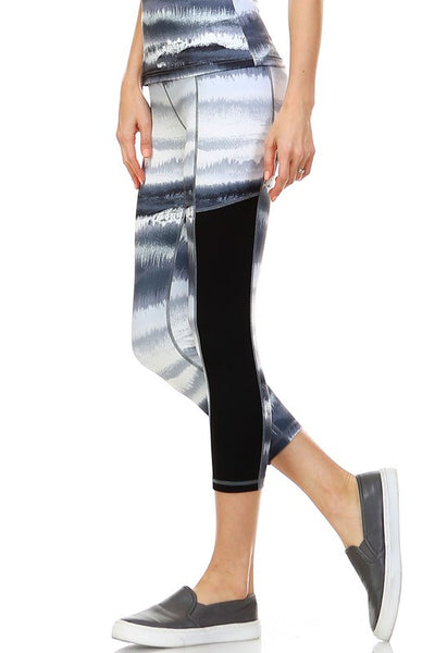 Tie Dye Paneled Yoga Legging