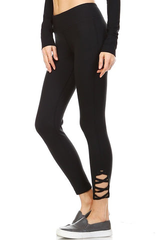 Criss Cross Side Yoga Legging