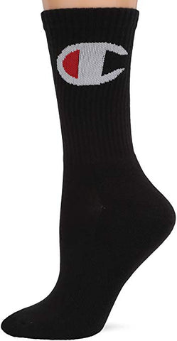 Women's Crew Sock Big C-Single Pair