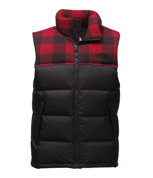 Men's Nuptse Vest Plaid