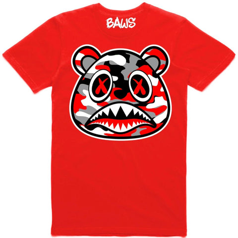 Red Camo Baws Tee