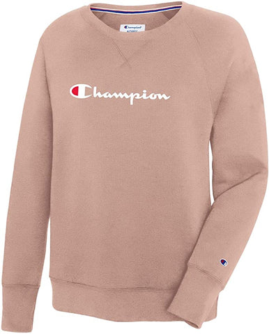 Women's Powerblend® Fleece Script Logo Boyfriend Crew