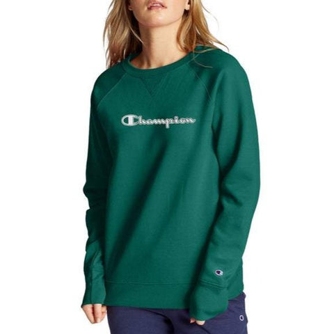 Women's Powerblend® Fleece Chainstitch Logo Crew