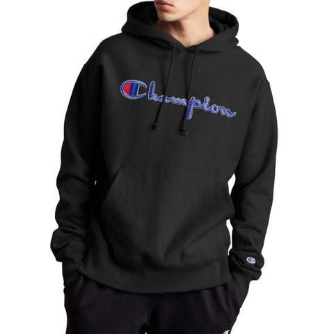 Champion Life™ Men's Reverse Weave 3D Floss Stitch Logo Hoodie