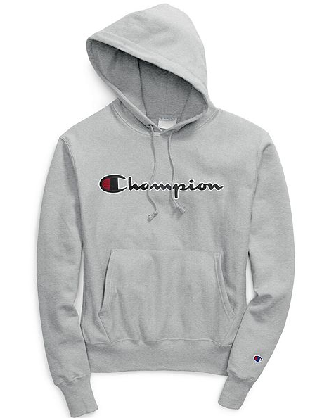 Champion Life® Chain Stitch Script Reverse Weave® Pullover Hood