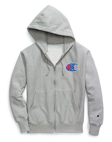 Champion Life® Men's Reverse Weave® Sublimated C Logo Zip Hoodie