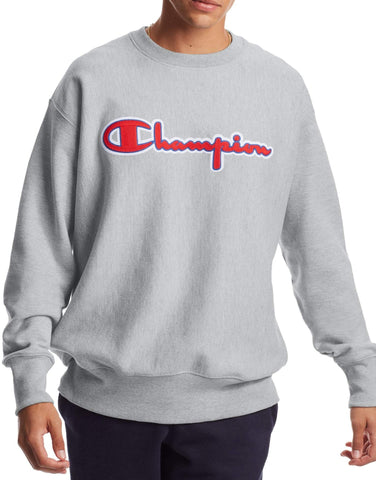 Men's Chainstitch Logo Reverse Weave Crew