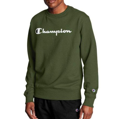 Men's Powerblend® Fleece Script Logo Crew