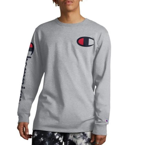 Big C & Vertical Logo Long-Sleeve Tee