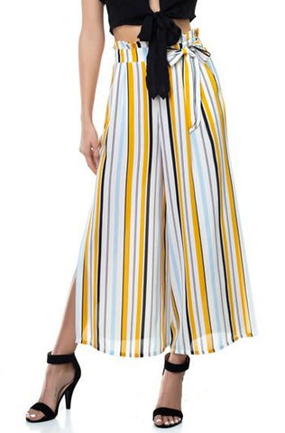Striped Gaucho Pant