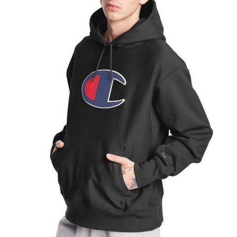 Champion Life™ Chenille Big C Logo Reverse Weave Hoodie