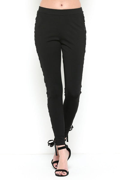 Lace Side Skinny Pant