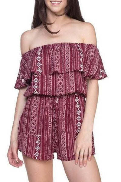 Off The Shoulder Romper