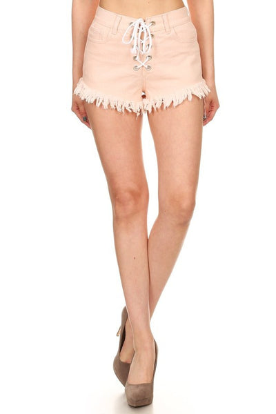 High Rise Lace-Up Short