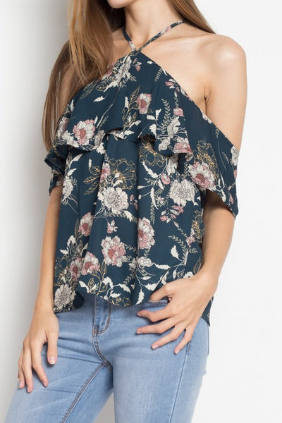 Floral Halter Neck Top
