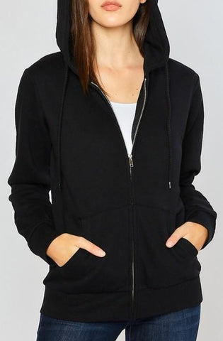 Relax Fit Zip Up Hoodie