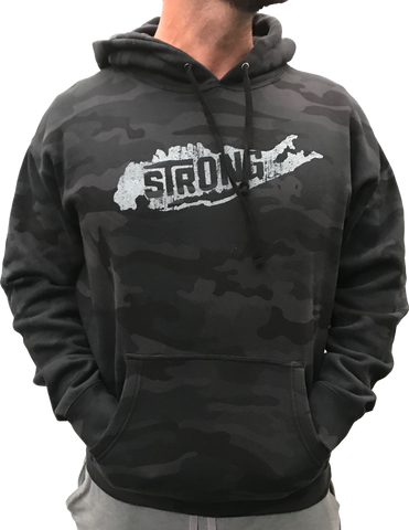 Long Island Strong Black Camo Hoodie