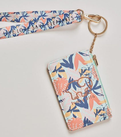 Tropical Leaves Lanyard ID Case