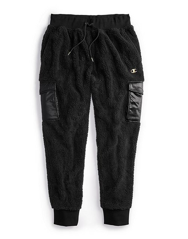 Faux Fur Men's Gold Plate C Logo Pants