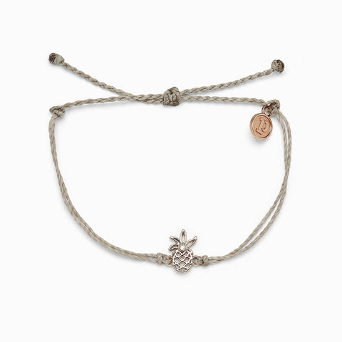 Open Pineapple Charm Bracelet