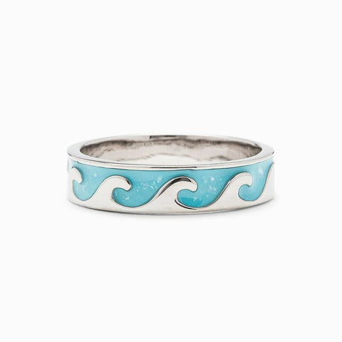 Reversible Enamel Wave Ring