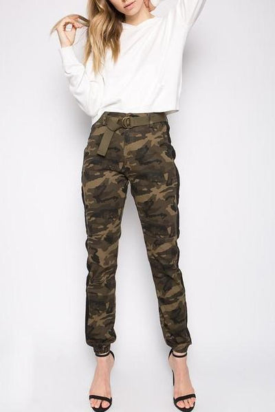 Side Stripe Camo Jogger