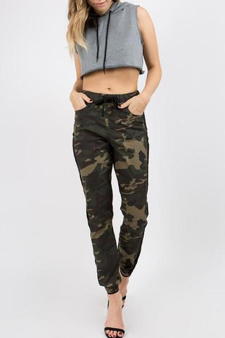 Side Taped Camo Joggers