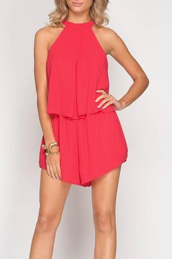 Solid Layered Romper