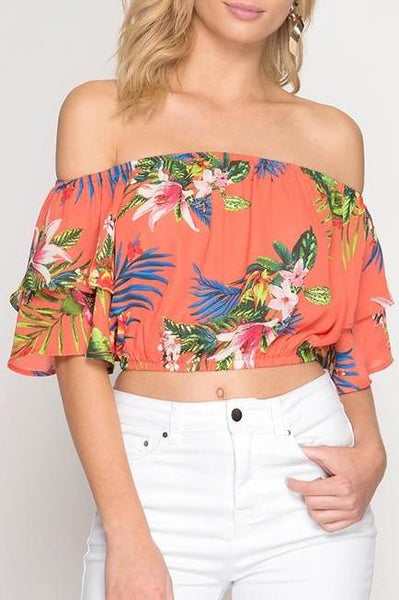 Tropical Off The Shoulder