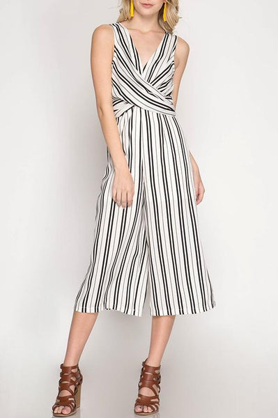 Striped Twist Jumpsuit