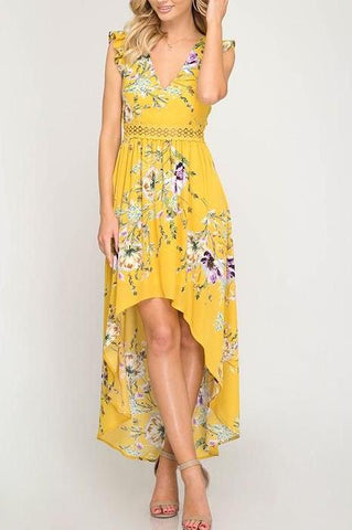 Floral Hi-Low Maxi Dress