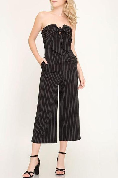 Striped Woven Jumpsuit