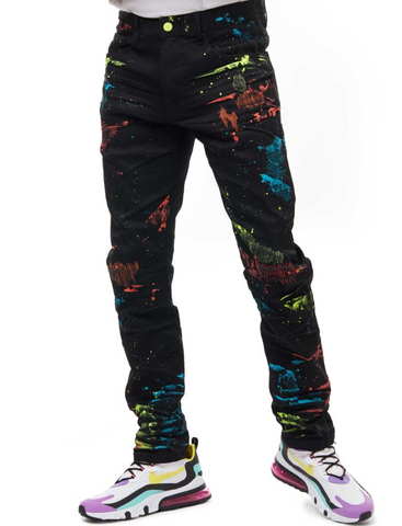 Men's Paint Splatter Jean